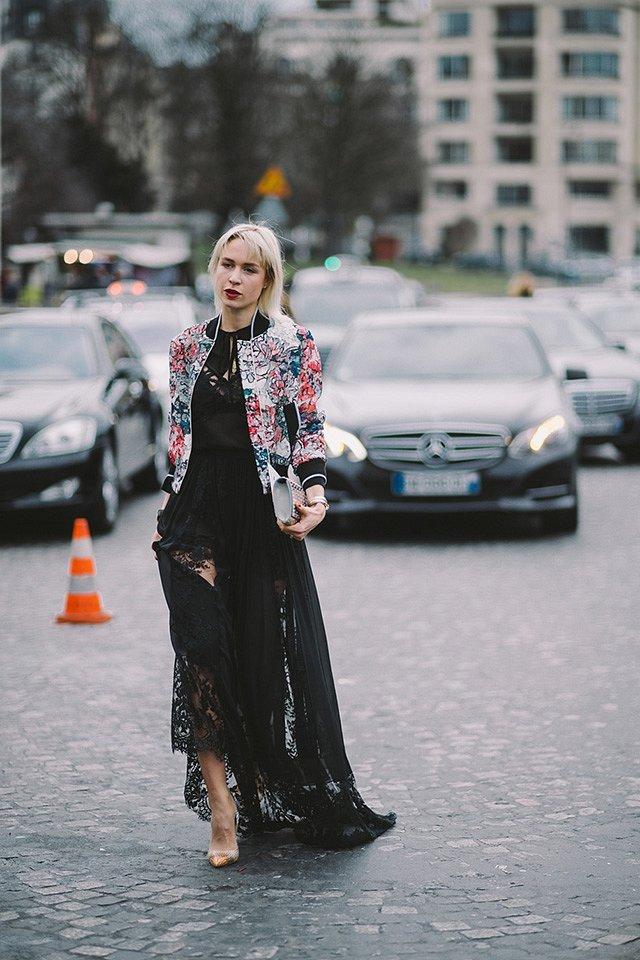 Street style на Неделе высокой моды в Париже весна-лето 2016 фото №37