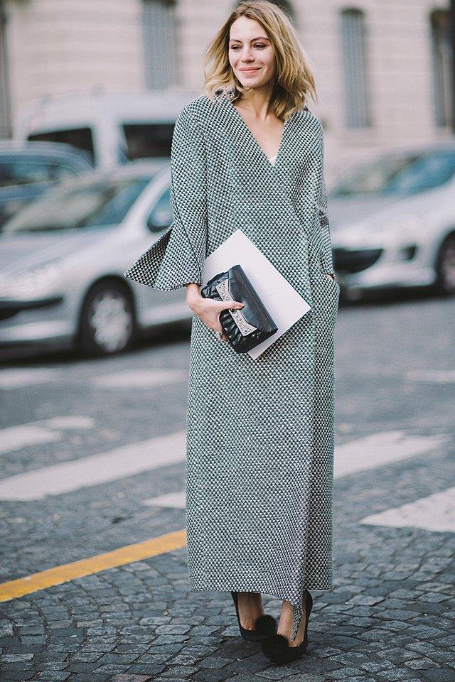 Street style на Неделе высокой моды в Париже весна-лето 2016 фото №40