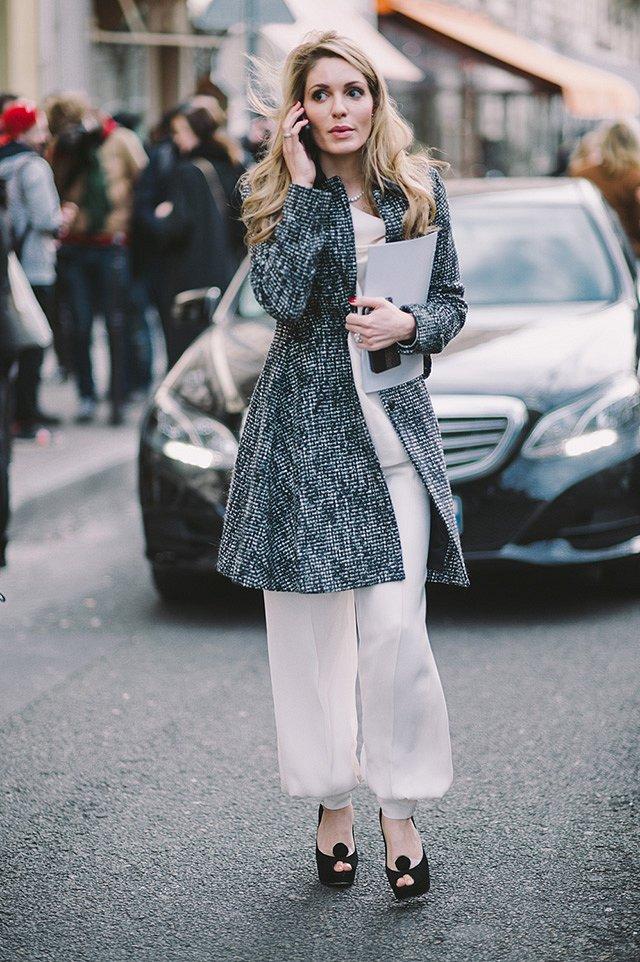 Street style на Неделе высокой моды в Париже весна-лето 2016 фото №43