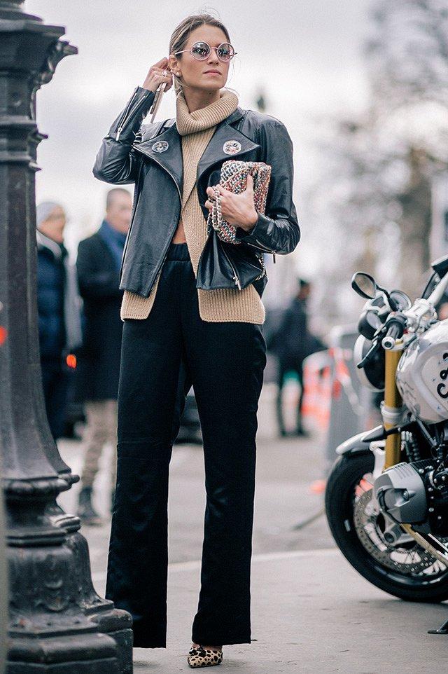 Street style на Неделе высокой моды в Париже весна-лето 2016 фото №44