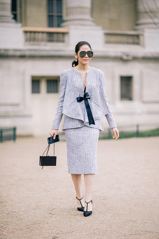 Street style на Неделе высокой моды в Париже весна-лето 2016 фото №46
