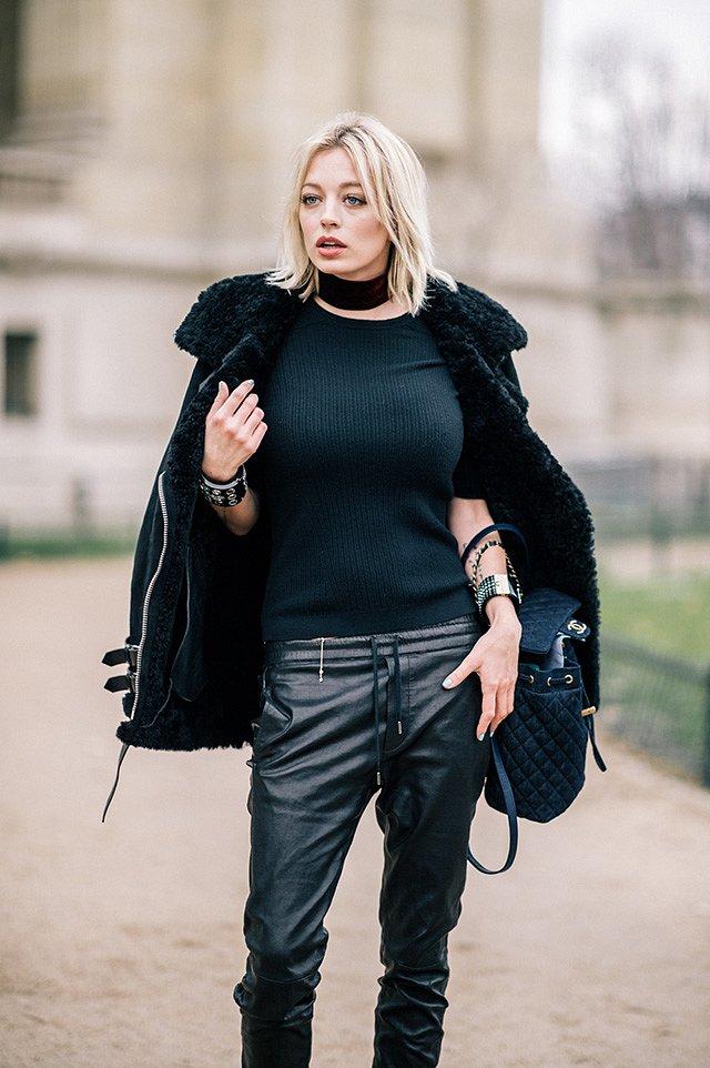 Street style на Неделе высокой моды в Париже весна-лето 2016 фото №47