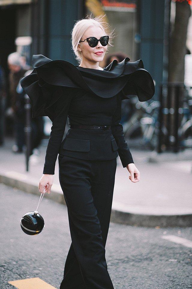 Street style на Неделе высокой моды в Париже весна-лето 2016 фото №48