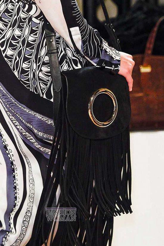 сумка с бахромой через плечо