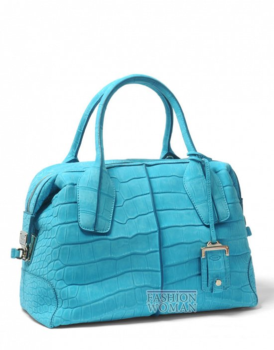 голубая сумка Tod's