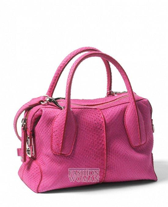 розовая сумка Tod's весна-лето 2012
