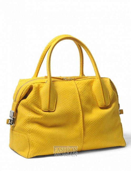 желтая сумка Tod's