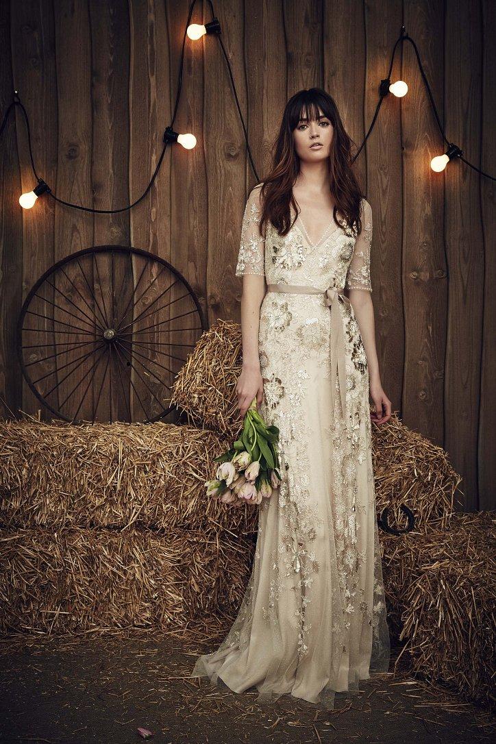 Свадебная коллекция Jenny Packham весна 2017 фото №15