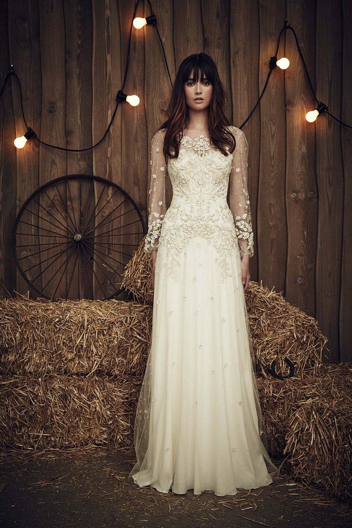 Свадебная коллекция Jenny Packham весна 2017 фото №16