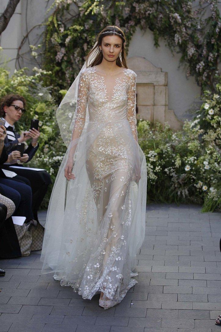 Свадебная коллекция Monique Lhuillier весна 2017 фото №6