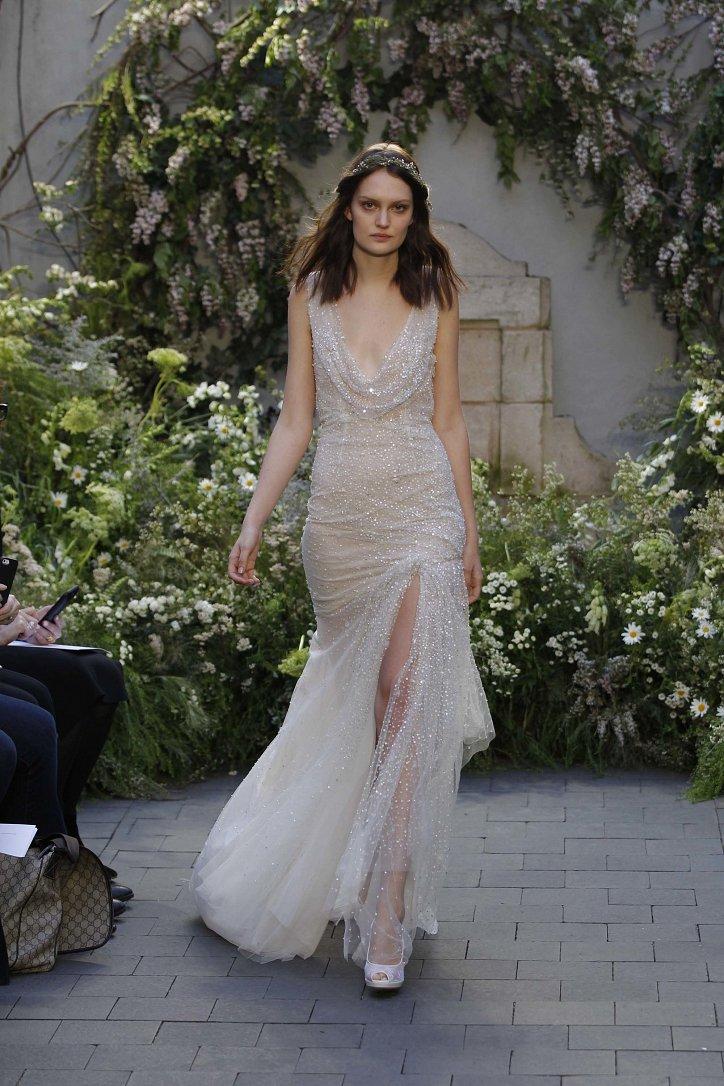 Свадебная коллекция Monique Lhuillier весна 2017 фото №12
