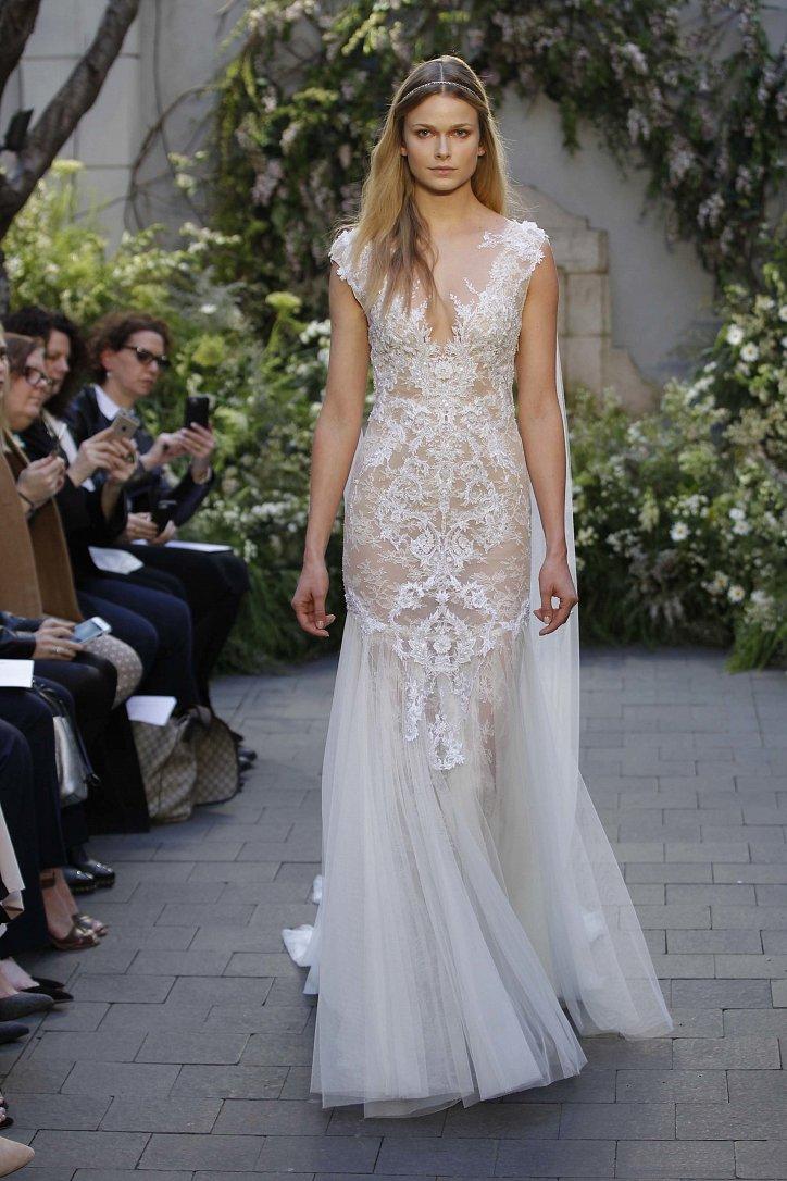 Свадебная коллекция Monique Lhuillier весна 2017 фото №15