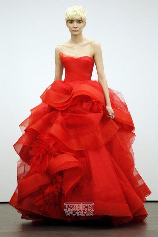 Свадебная мода весна-лето 2013 от Vera Wang фото №1