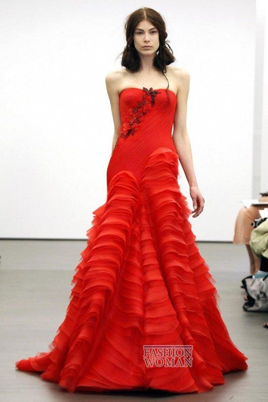 Свадебная мода весна-лето 2013 от Vera Wang фото №8