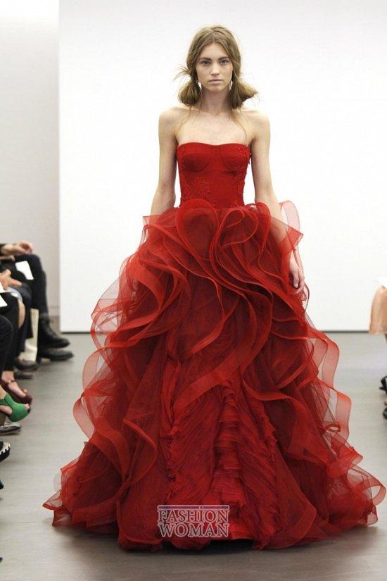 Свадебная мода весна-лето 2013 от Vera Wang фото №10