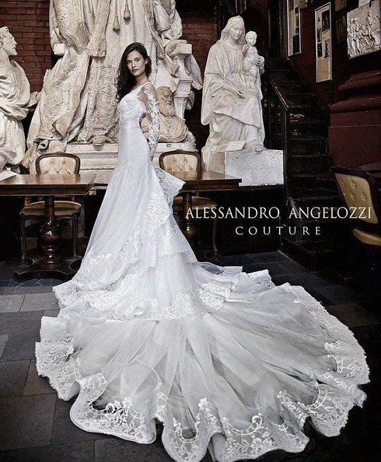 Свадебные платья Alessandro Angelozzi Couture 2015 фото №9