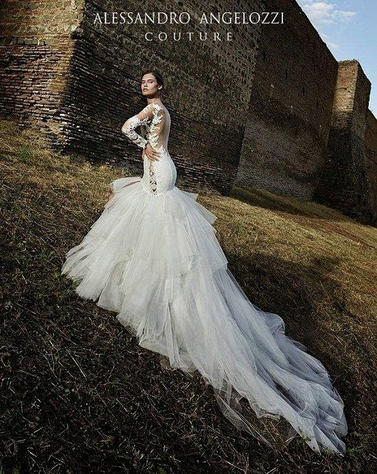 Свадебные платья Alessandro Angelozzi Couture 2015 фото №17