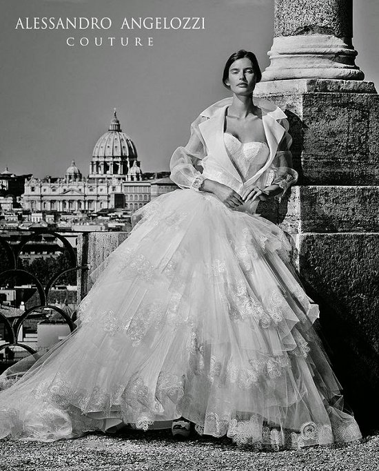 Свадебные платья Alessandro Angelozzi Couture 2015 фото №19