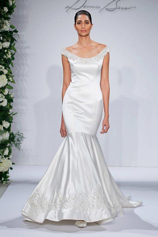 Свадебные платья Dennis Basso осень-зима 2015-2016 фото №3