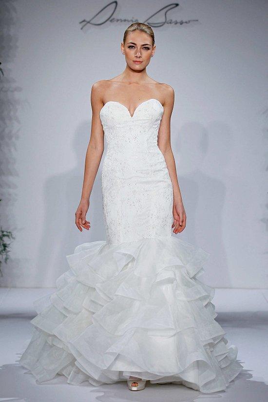 Свадебные платья Dennis Basso осень-зима 2015-2016 фото №13