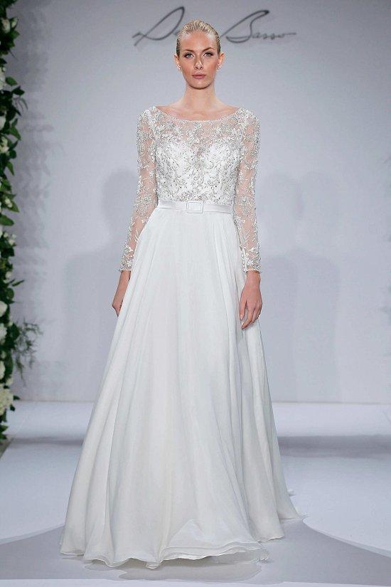 Свадебные платья Dennis Basso осень-зима 2015-2016 фото №14