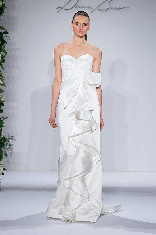 Свадебные платья Dennis Basso осень-зима 2015-2016 фото №16