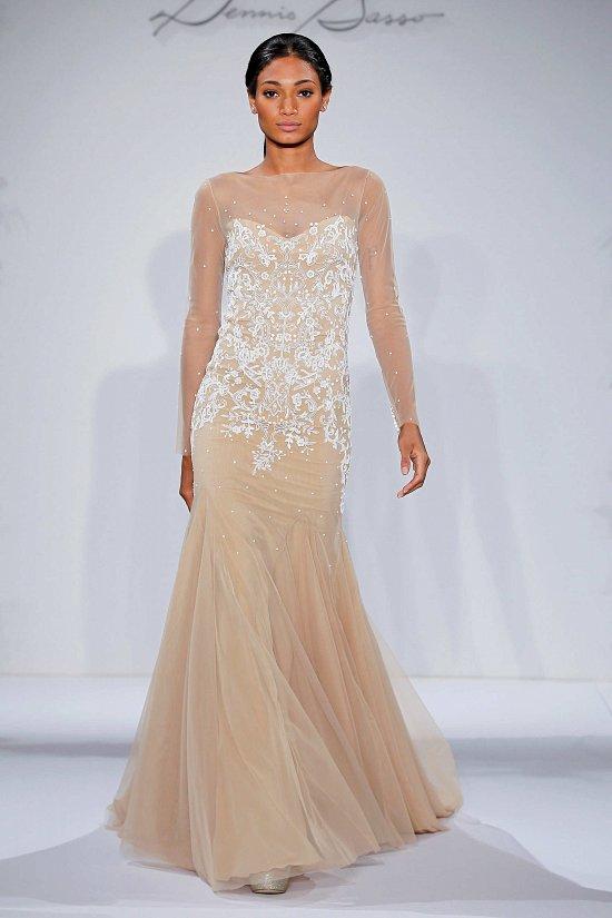 Свадебные платья Dennis Basso осень-зима 2015-2016 фото №17
