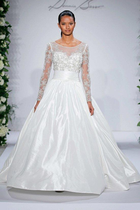 Свадебные платья Dennis Basso осень-зима 2015-2016 фото №19