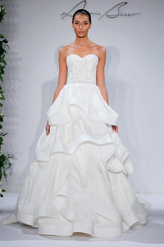 Свадебные платья Dennis Basso осень-зима 2015-2016 фото №20