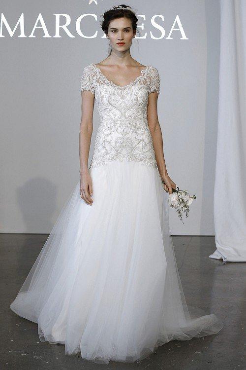 Свадебные платья Marchesa весна-лето 2015 фото №11