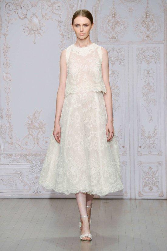Свадебные платья Monique Lhuillier осень-зима 2015-2016 фото №5