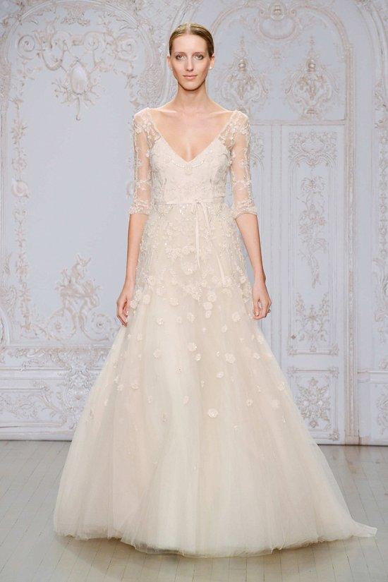 Свадебные платья Monique Lhuillier осень-зима 2015-2016 фото №4