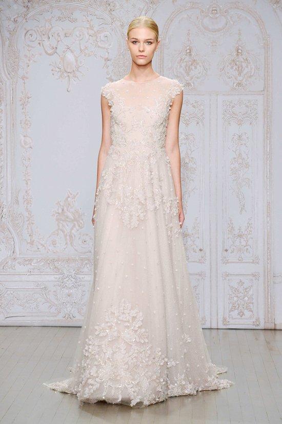 Свадебные платья Monique Lhuillier осень-зима 2015-2016 фото №10
