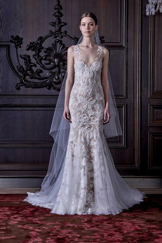 Свадебные платья Monique Lhuillier весна 2016 фото №3