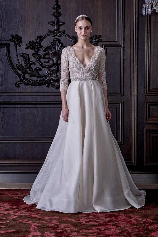 Свадебные платья Monique Lhuillier весна 2016 фото №5