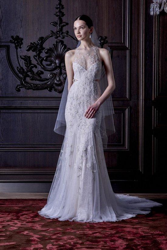Свадебные платья Monique Lhuillier весна 2016 фото №7