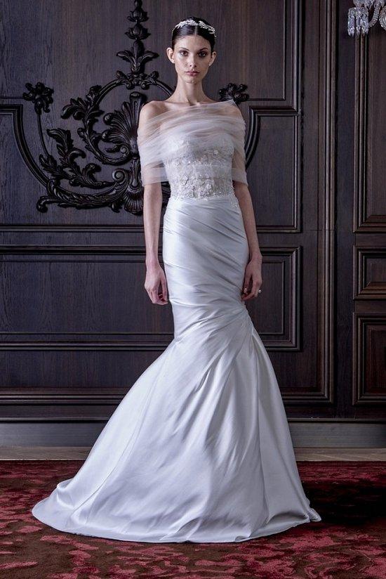 Свадебные платья Monique Lhuillier весна 2016 фото №9