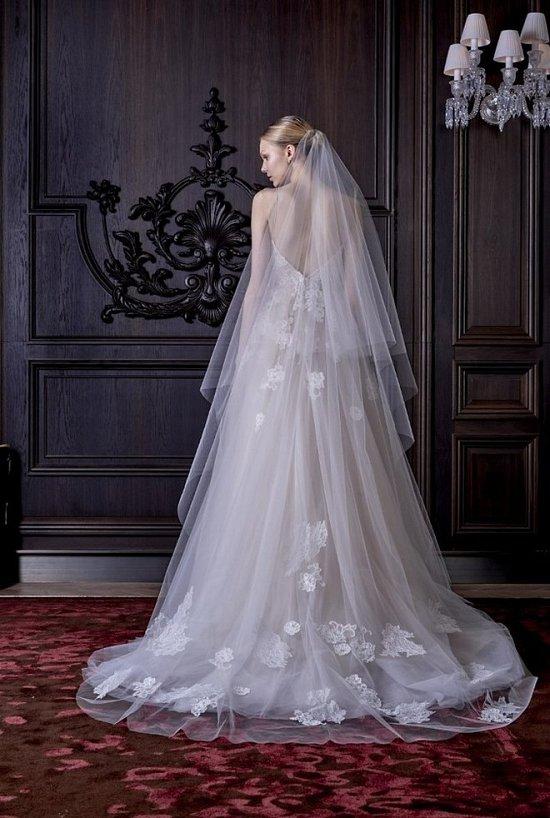 Свадебные платья Monique Lhuillier весна 2016 фото №12