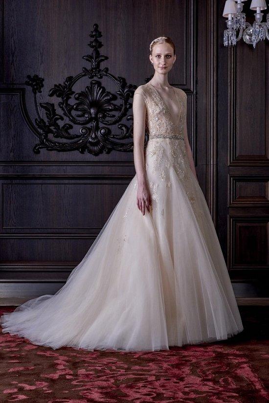 Свадебные платья Monique Lhuillier весна 2016 фото №13