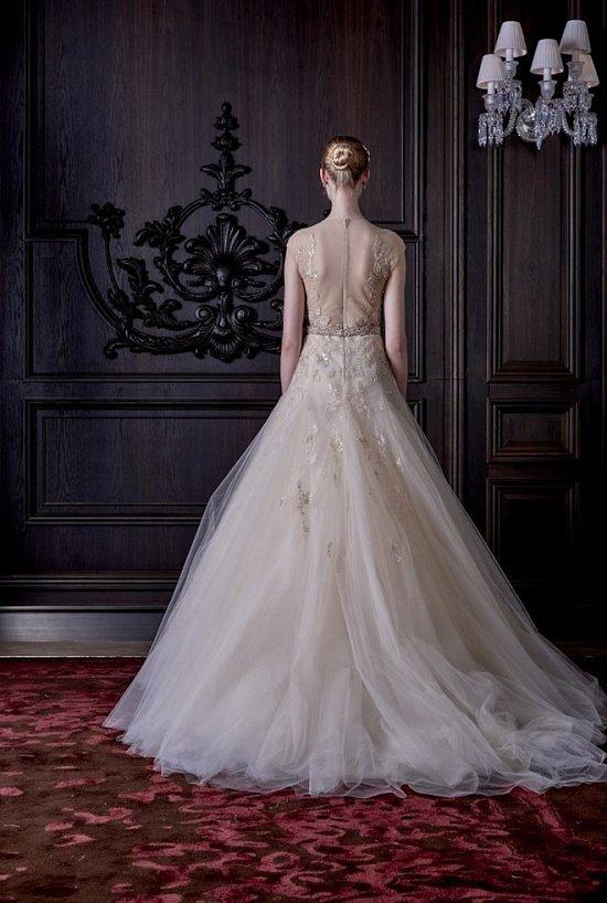 Свадебные платья Monique Lhuillier весна 2016 фото №14