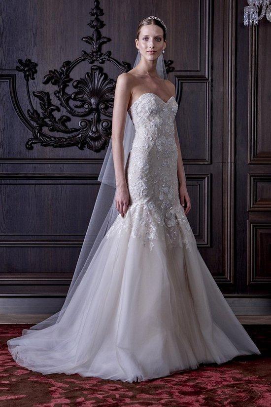 Свадебные платья Monique Lhuillier весна 2016 фото №15