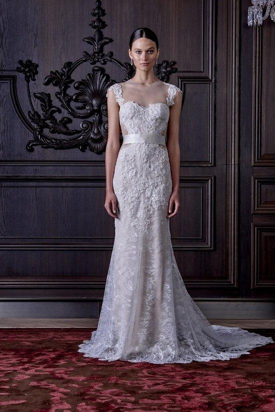 Свадебные платья Monique Lhuillier весна 2016 фото №17