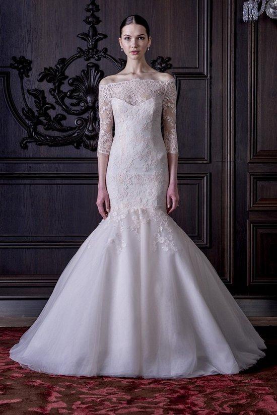 Свадебные платья Monique Lhuillier весна 2016 фото №19