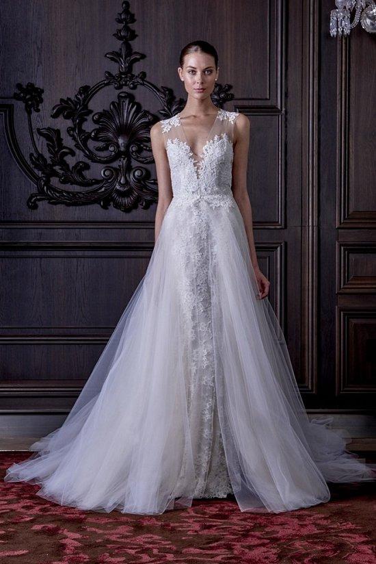 Свадебные платья Monique Lhuillier весна 2016 фото №21