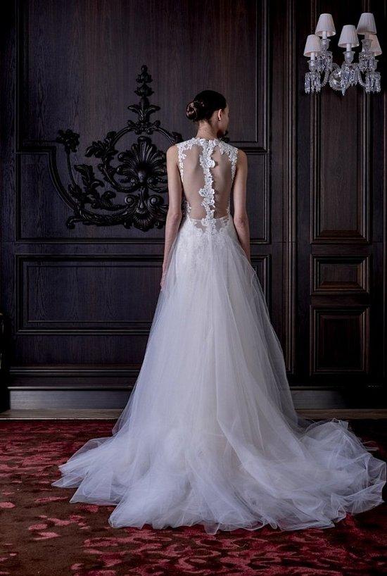 Свадебные платья Monique Lhuillier весна 2016 фото №22