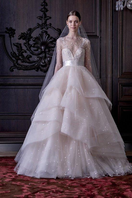 Свадебные платья Monique Lhuillier весна 2016 фото №23