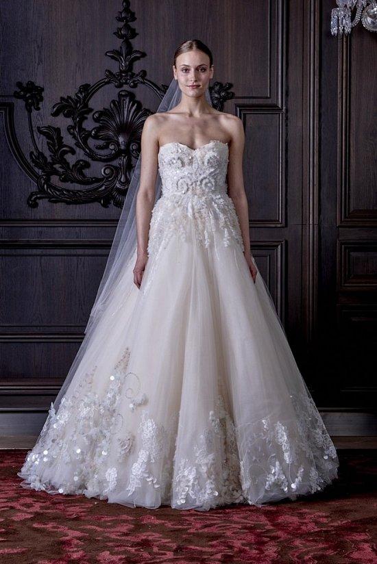 Свадебные платья Monique Lhuillier весна 2016 фото №25