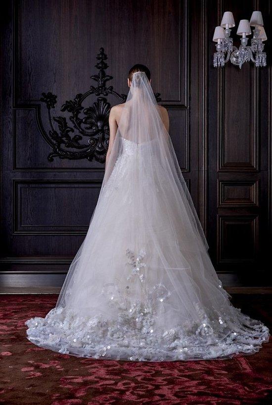Свадебные платья Monique Lhuillier весна 2016 фото №26