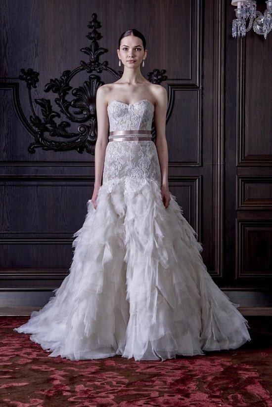 Свадебные платья Monique Lhuillier весна 2016 фото №29