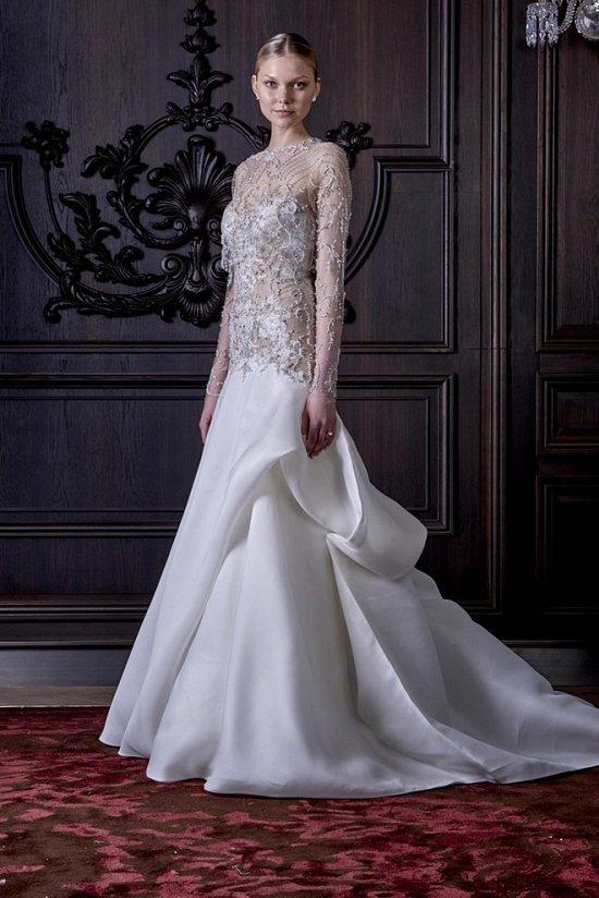 Свадебные платья Monique Lhuillier весна 2016 фото №31